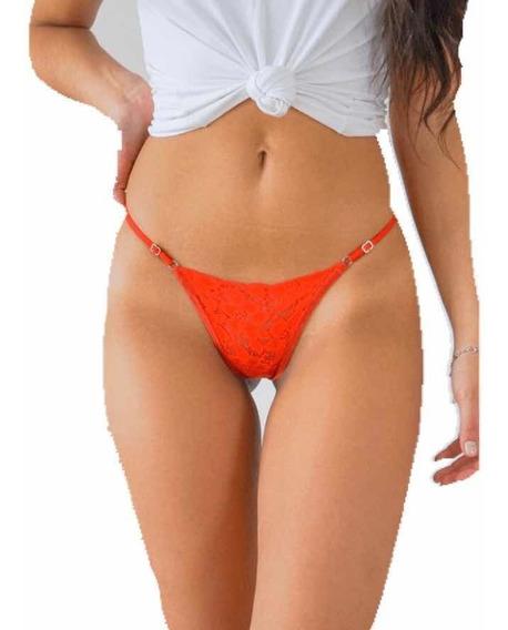 Panty Encaje Dama Lenceria Erotica Colaless Ajustable Mujer