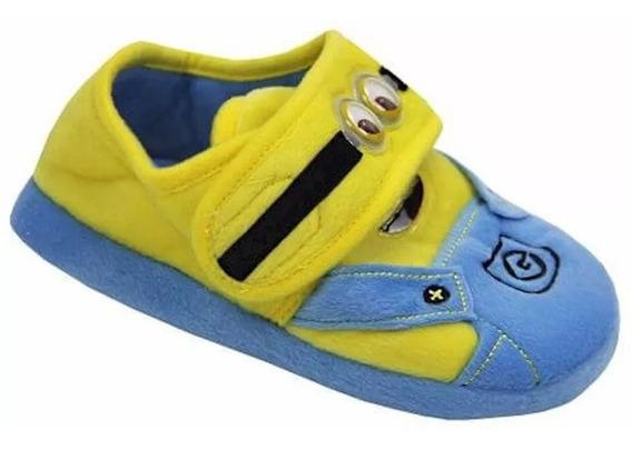 Pantufa Minions Ricsen Infantil Azul/amar 7498 Frete Grátis