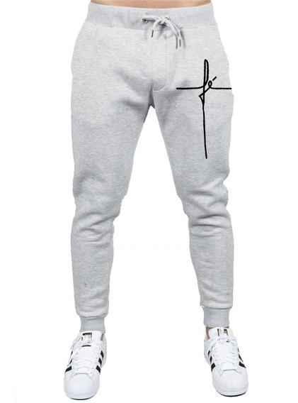 Calça Moleton Slin Fé Hope Religioso Tumblr Promoção Top