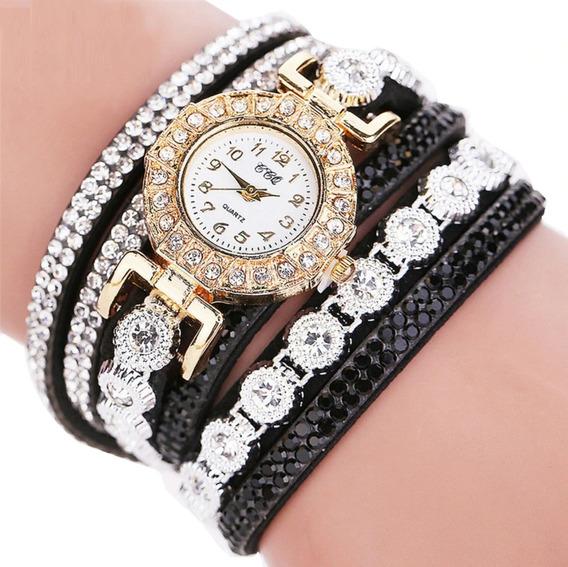 Relógio Feminino Pulseira Liga Bracelete Promoção Barato