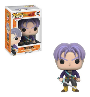 Muñeco Funko Pop Trunks 107 Dragon Ball Z Original