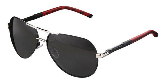 Lentes Gafas De Sol Polarizadas Barcur Design Silver Black