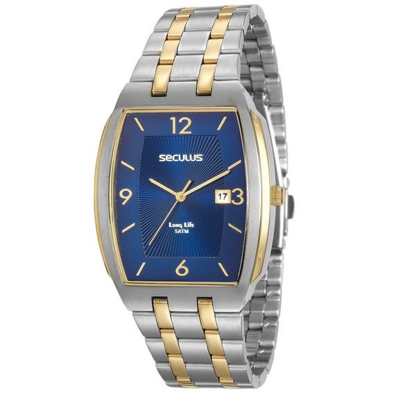 Relógio Masculino Seculus Quadrado 20587gpsvba1