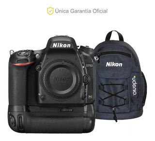 Nikon Oficial Full Frame D750 Cuerpo Y Battery Grip Mb-d16
