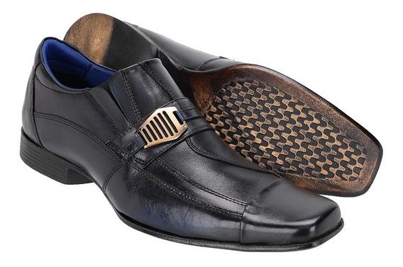 Sapato Masculino Social Em Couro Costurada Mão Khaata 15107