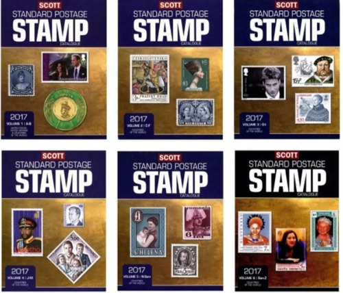 Scott 2017 Standard Postage Catalogo Estampillas Los 6 Tomos