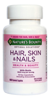 Natures Bounty Hair Skin And Nails Y Biotina X 60 Cap
