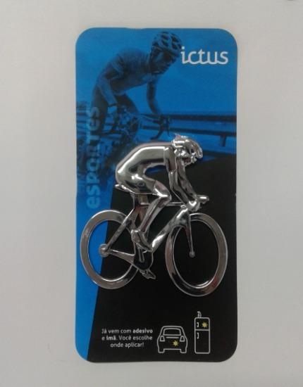 Emblema Ciclista Adesivo Carro