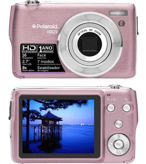Camera Digital Polaroid Is829 16 Mp Rosa