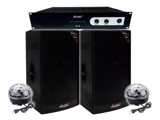 Bafle A15 Apogee X2 + Amplificador Apogee H12 + 2 Laser Plsp