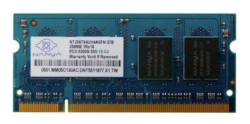 Memoria Ddr2 256mb 667mhz Sodimm Nanya Premium X5 Unidades