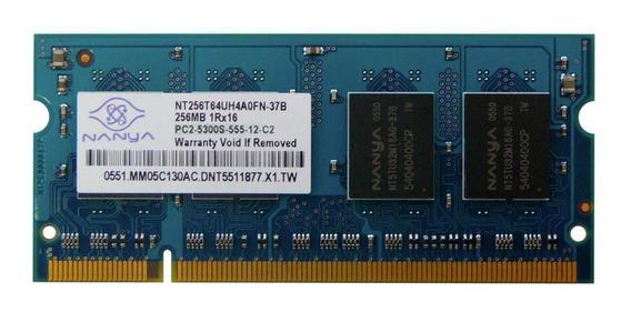 Memoria Ddr2 256mb 667mhz Pc5300 Sodimm Nanya Premium