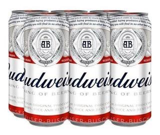 Cerveza Budweiser Rubia Lata 473ml X6 Unidades