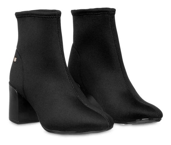 Bota Cano Curto Feminina Petite Jolie Sock Boot Lançamento