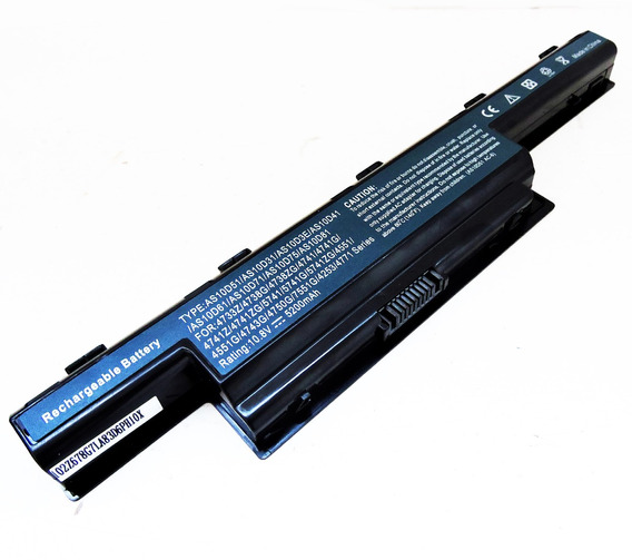 Bateria Para Notebook Acer Aspire As10d81 | 4400mah Preto