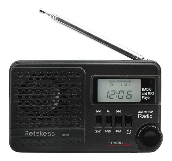 Retekess Tr601 Fm / Am / Sw Rádio Multibanda Digital Estéreo