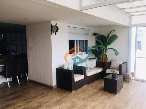Apartamento Garden Com 3 Dormitórios À Venda, 161 M² Por R$ 790.000,00 - Vila Augusta - Guarulhos/sp - Gd0005