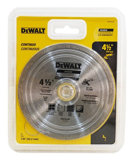 Disco Diamantado 4.5 Continuo Dw47451hp Dewalt