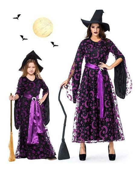Vestido Maxi De Halloween Luna Star Madre Niño
