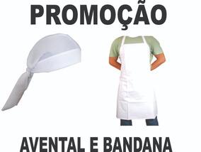 Touca Bandana Branca Unissex Cirurgica Chef Gorro + Avental