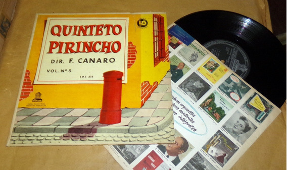 Quinteto Pirincho Canaro Vol 5 Lp 10 Pulgadas / Kktus