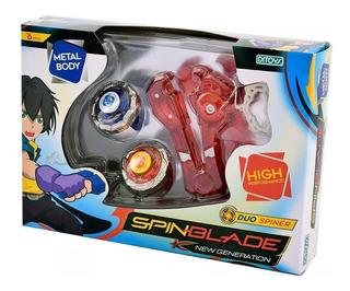Spin Blade Duo Spiner Trompo Metal Lanzador Ditoys