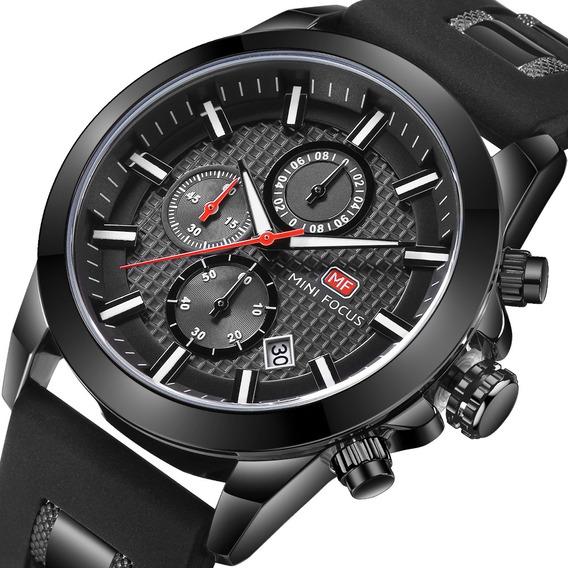 Reloj Pulsera Mini Focus Moderno Cuarzo Impermeable P/hombre