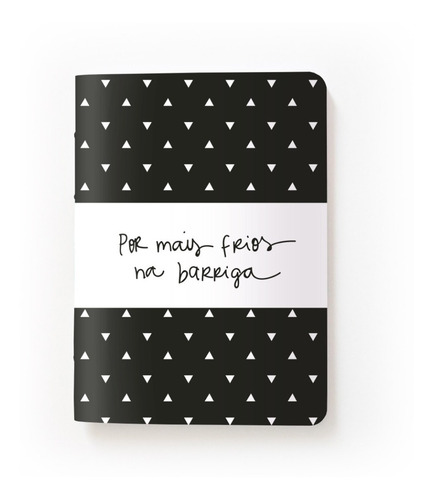 Caderninho Sketchbook - Por Mais Frios Na Barriga