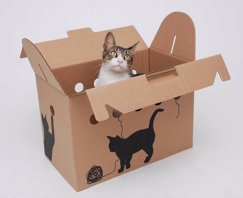 Imagen 1 de 5 de Transportadora De Cartón Plegable Para Animales Pequeños.