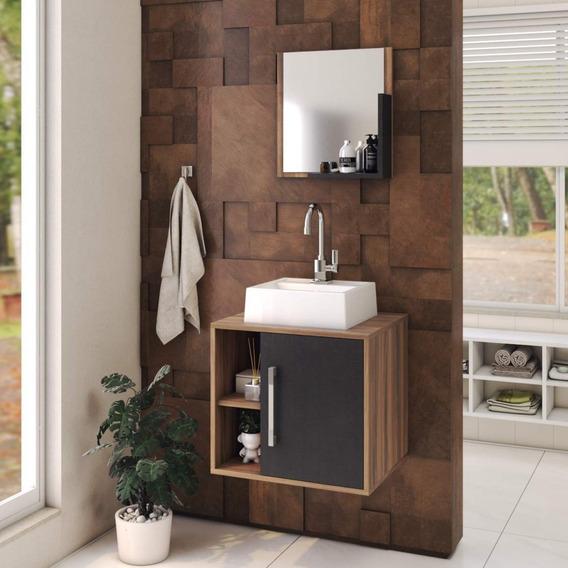 Conjunto Para Banheiro Gabinete Com Cuba Quadrada Q32 Ie