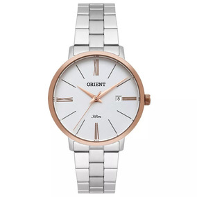 Relógio Orient Feminino Prata/rosê Ftss1120 S3sx Orient