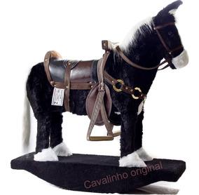 Cavalinho Luxo Brinquedo Artesanal Pelúcia +frete Grátis