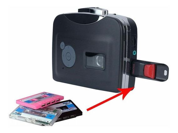 Walkman Conversor Fita Cassete Usb P/ Mp3 Grava Pen Drive