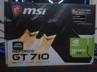 Tarjeta Grafica Nvidia Msi Geforce Gt 710 2gb