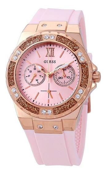 Relógio Guess W1053l3 Rosa Original Completo Com Caixa