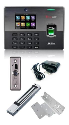 Imagen 1 de 10 de Combo Control Acceso Biométrico Reloj Personal Iclock Zkteco