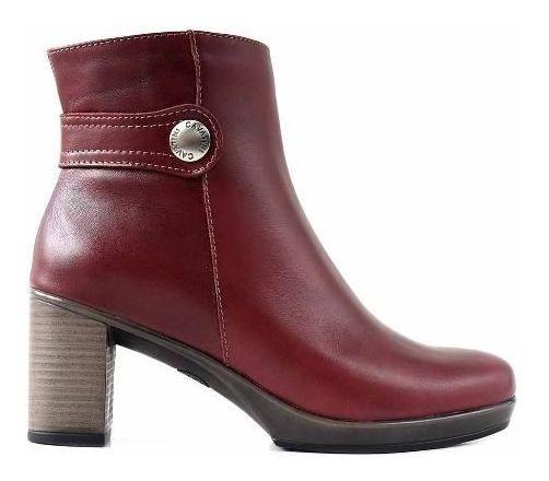 Bota Cavatini Cuero Mujer Botineta Zapato Botita - Mcbo24903