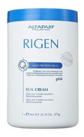 Alfaparf Rigen Real Cream Milk Protein Plus Ph4 De 1 Litro