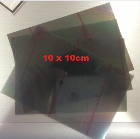 Película Polarizadora Adesiva Lcd Led 10cm X 10cm