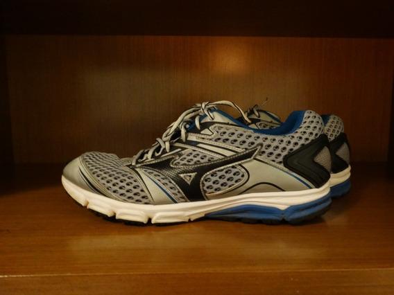 Tênis Mizuno Iron Prata/azul (tamanho 43)