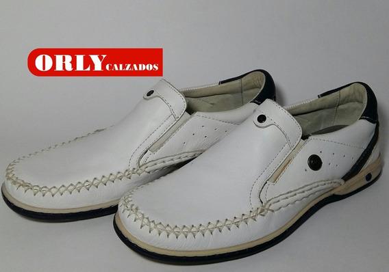 Zapato Ringo Náutico Blanco Mod Cayman 03 Cod. 228