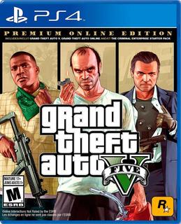 Grand Theft Auto V Ps4 Edición Premium, Nuevo Sellado Tienda