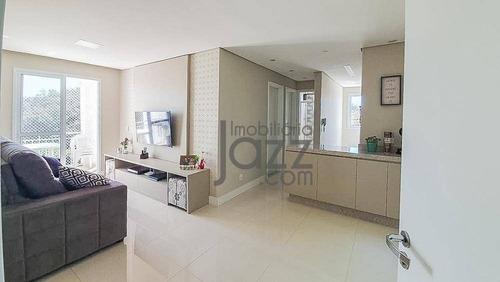 Excelente Apartamento Com 2 Dormitórios À Venda, 54 M² Por R$ 277.000 - Residencial Normandie - Itatiba/sp - Ap5003