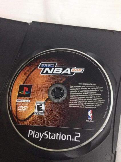 Nba 2k2 Sega Sports Original Playstation 2 Sony Ps2 R$42,99