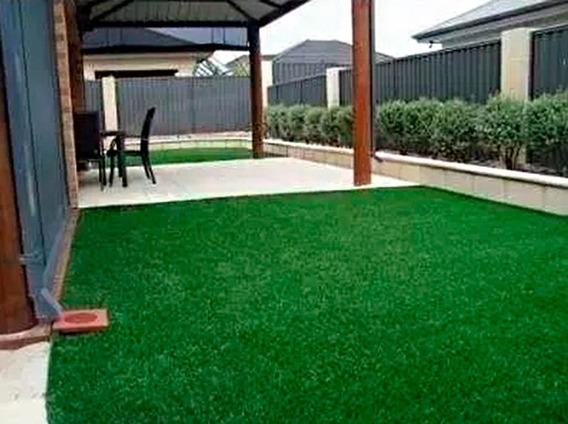 Tapete Grama Sintética Decoração 12mm Jardim 4m² Verde