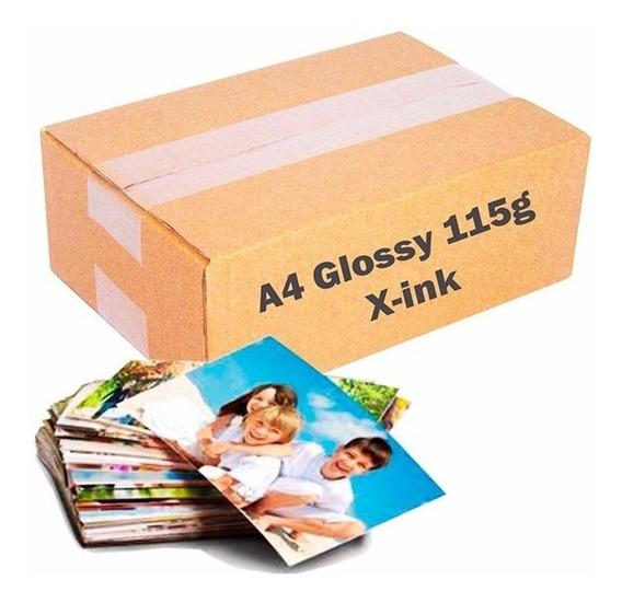Papel Fotográfico Glossy A4 115g À Prova D´água 1600 Folhas