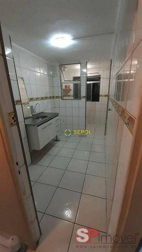Apartamento Com 2 Dormitórios Para Alugar, 48 M² Por R$ 880/mês - Jardim Iguatemi - São Paulo/sp - Ap1159