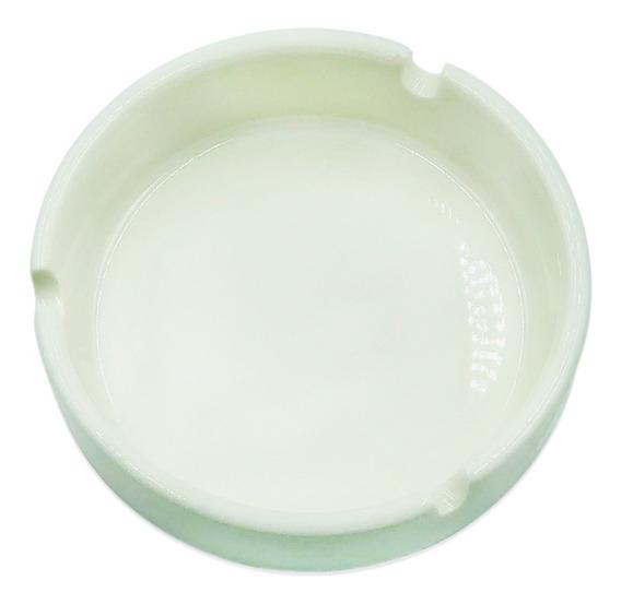 Cenicero Porcelana Blanca Redondo Excelente Calidad !!!!