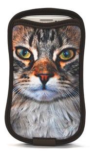 Case Galaxy S3 E S4 E Outros Com Porta-cartão - Gato