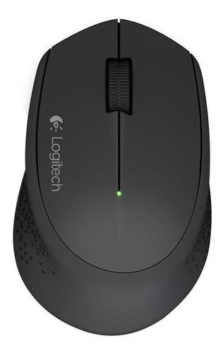 Imagen 1 de 5 de Mouse Inalámbrico Logitech M280 Negro Wireless Ergonomico